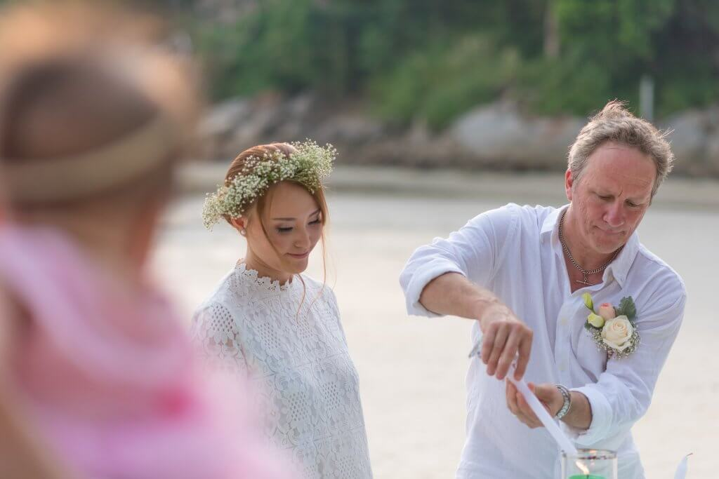 Marriage Celebrant Paul Cunliffe and James & Tina on Kata Beach