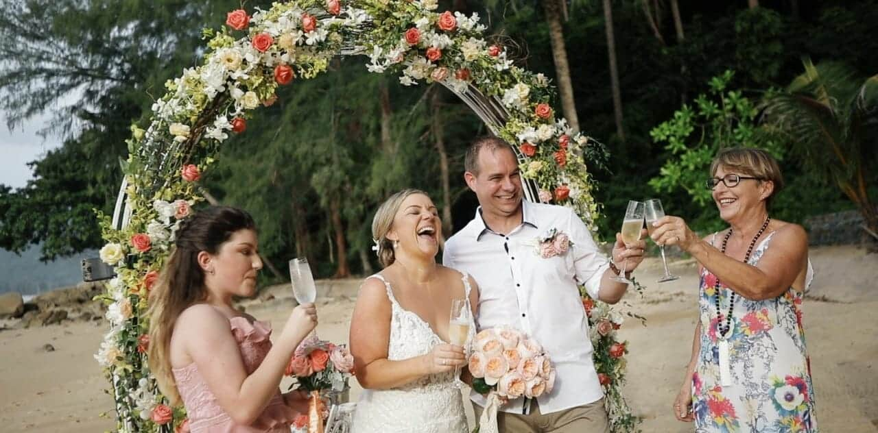 Wedding Video - Lucy & Murray Wedding -  Beach Wedding Highlight 15th July 2018 on Hua Beach